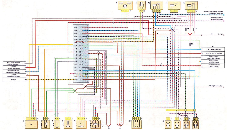 Схема на инжекторную классику