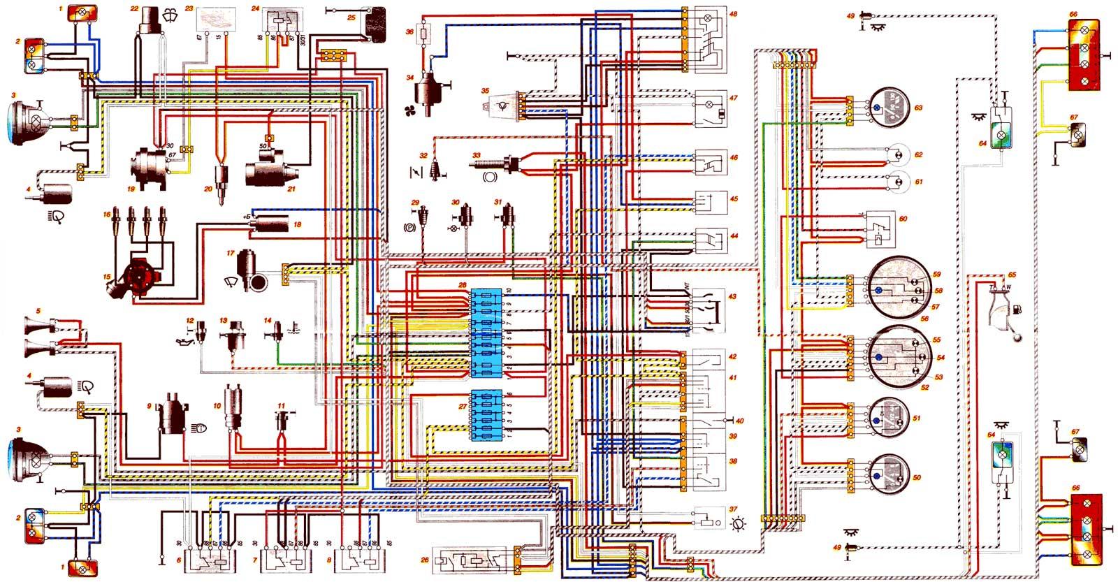 Схема газовый и электро котел