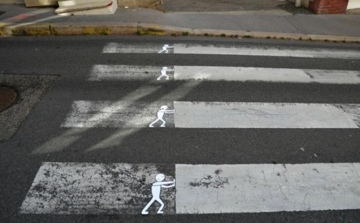 разметка пешеходного перехода