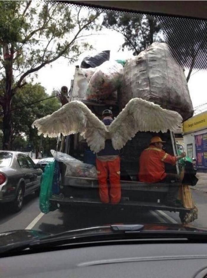 дворник с крыльями